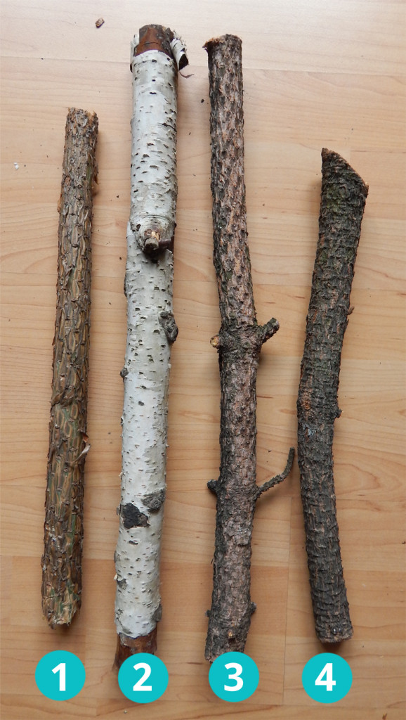 Example of good and bad branches for a branch flute.