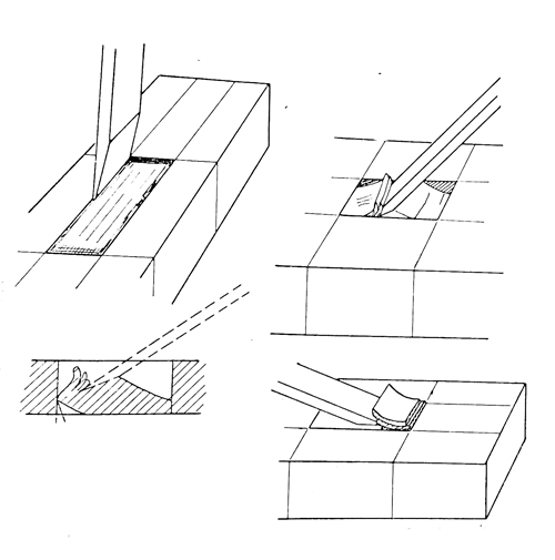 This should help you learn how to cut square holes in wood with a chisel.