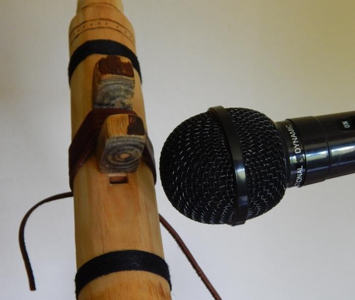 Place the mic next to the true sound hole.