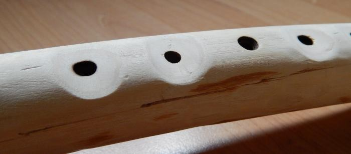 "Making small ""pockets"" for your fingers makes tuning easier for some flutes."