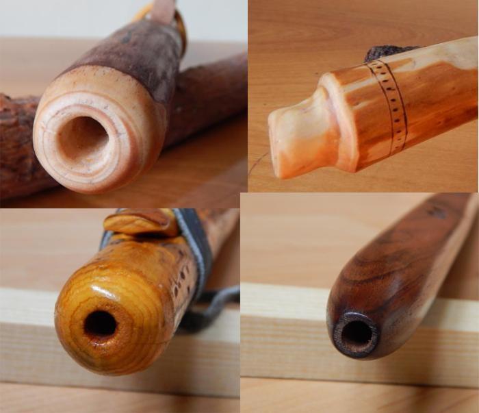 Native American flute mouthpiece