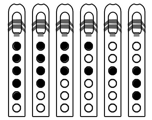 Major Pentatonic Scale for Native American Flute